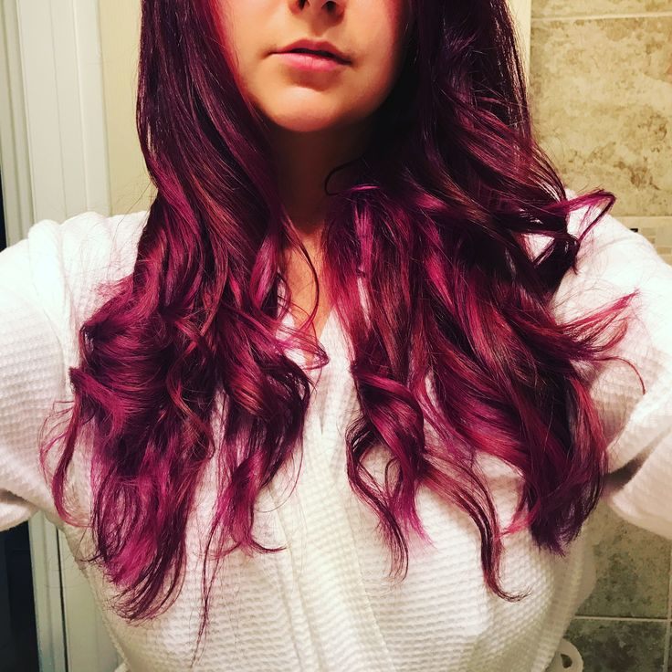 Magenta hair using a mix of manic panic purple haze and hot pink