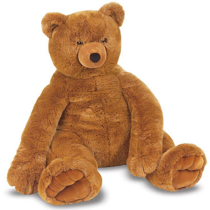 "Plush Jumbo Giant Big Brown Stuffed Soft Teddy Bear 30"" x 30"" x 27"" #MelissaDoug"