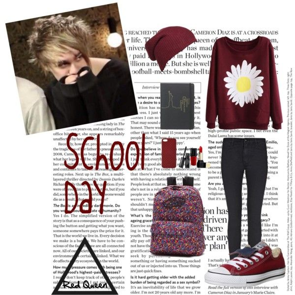 Michael by elleonora-scarlat on Polyvore featuring Converse, Vans, Gucci and Guerlain