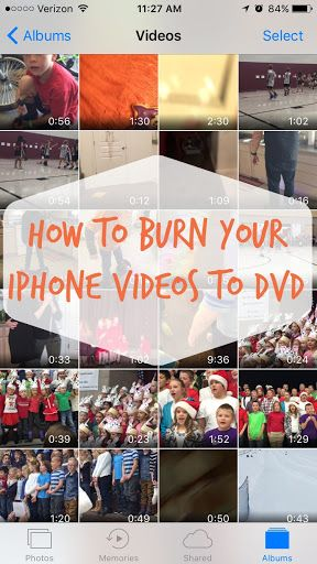 Get those videos off your phone and into your home movie collection to store forever! How to burn your iphone videos to a DVD After a certain point, all those baby videos, school concerts and …