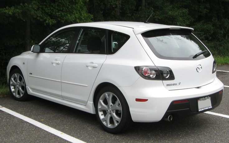 Mazda 3 (1st generation, 2003-2008, Hasip Girgin)  http://upload.wikimedia.org/wikipedia/commons/2/25/Mazda3_hatchback_--_09-08-2009.jpg