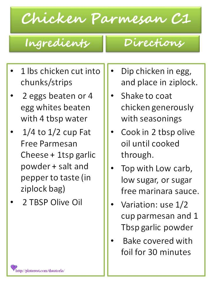 Chicken Parmesan Recipe ♥ 17 Day Diet Cycle 1