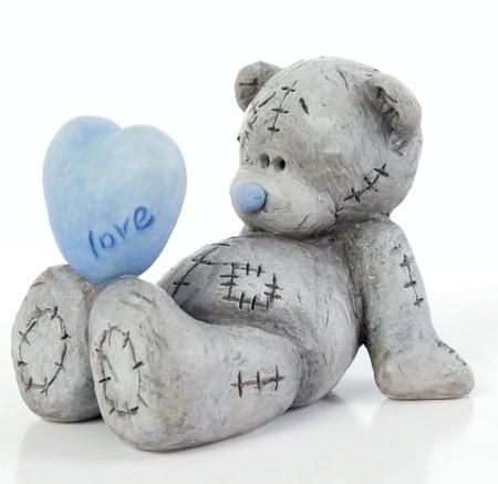 love in love - bears, love, valentine, blue, sweet