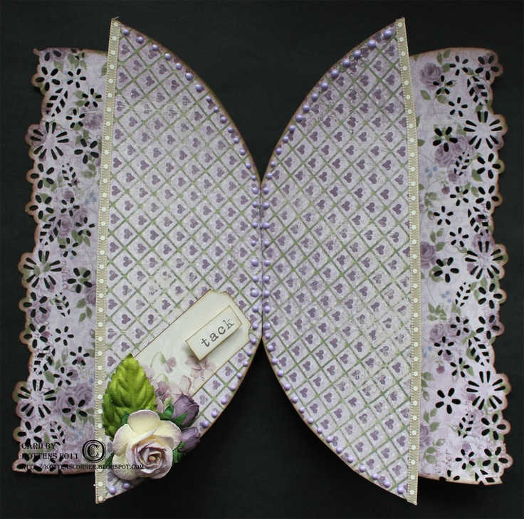 Kottens corner: Maja Design  DT work for Maja Design.  Butterfly card using the Ska Vi Ta En Fika collection.