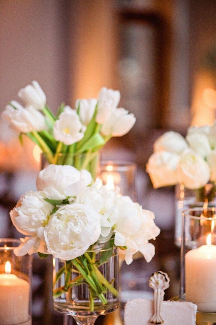 photo: Amanda Megan Miller; Stunning wedding centerpiece idea