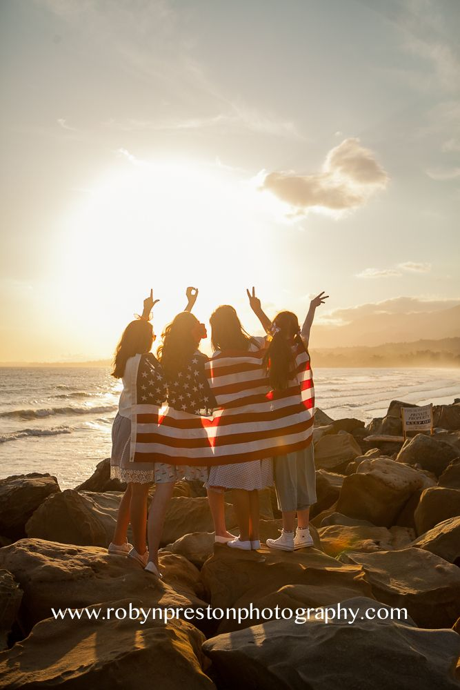 robyn preston photography santa clarita  American flag, Labor Day, Fourth of July, senior models, beach photography, senior poses, pictures with friendsf, friendship, America