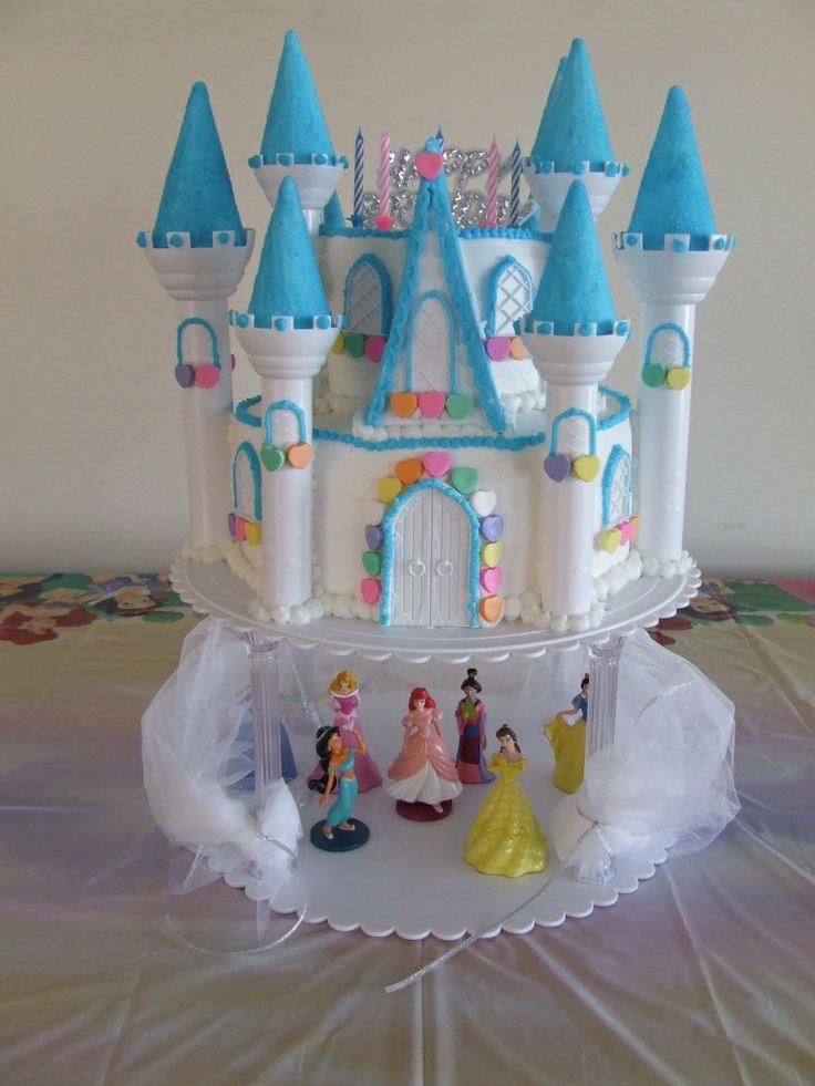 Disney Princess Castle Birthday Cake Used The Wilton