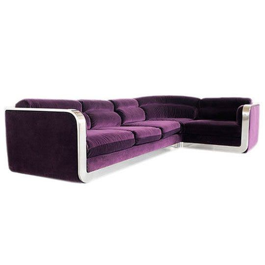 Corner Sofa By Max Form Circa 1960s  MidCentury Modern, Metal, Upholstery  Fabric, Sofas  Sectional by Modern Living Supplies