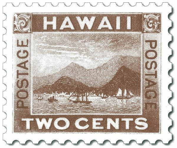 Hawaii Two Cent Stamp 1894 HI Postage