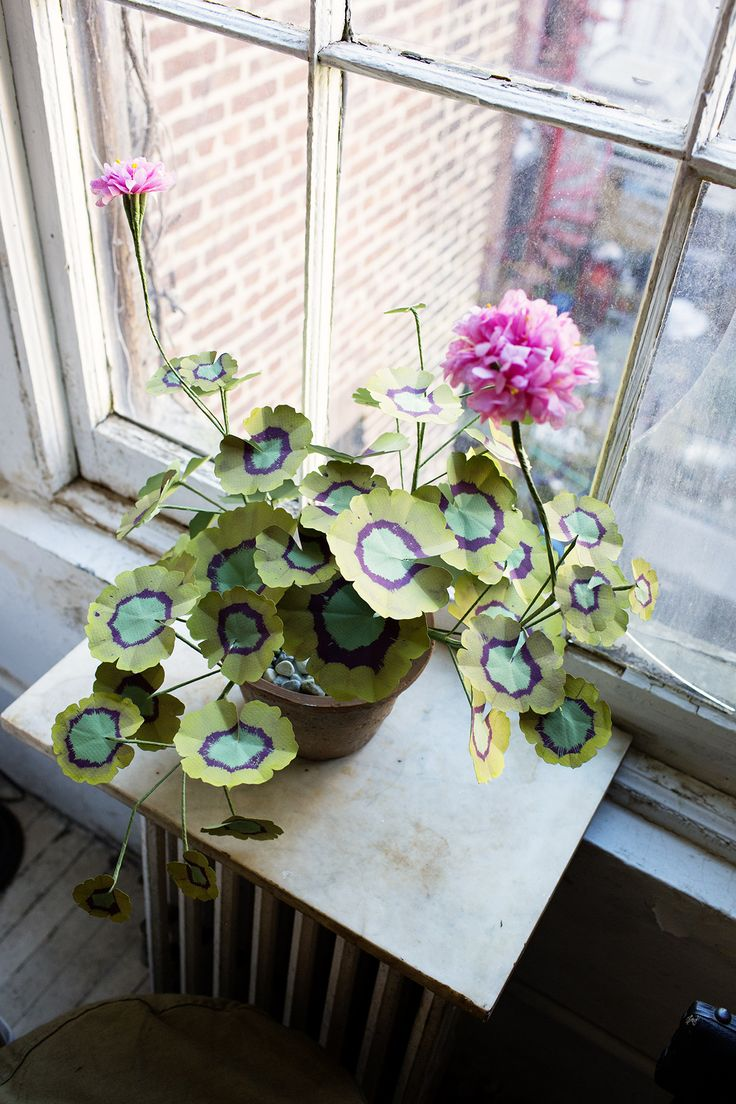 John Derian at Home in New York City « the selby :variegated geranium
