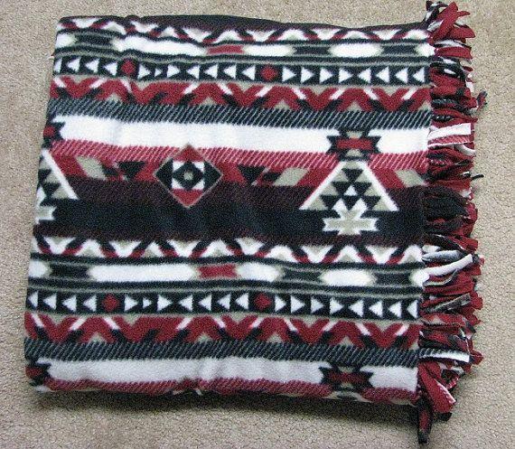 Couverture en polaire, couverture, jeté de canapé, canapé couverture, courtepointe, couverture de jet, sofa de couverture, couverture aztèque, jet aztèque, plaids polaire