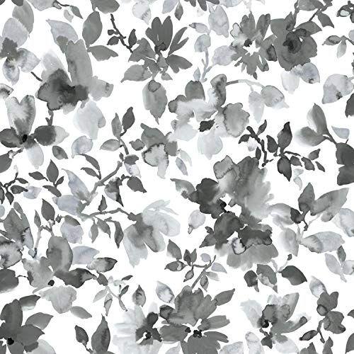 Roommates Black Watercolor Floral Peel And Stick Wallpape Https Www Amazon Com Dp B07j5vb5gh Re Peel And Stick Wallpaper Wallpaper Roll Peelable Wallpaper