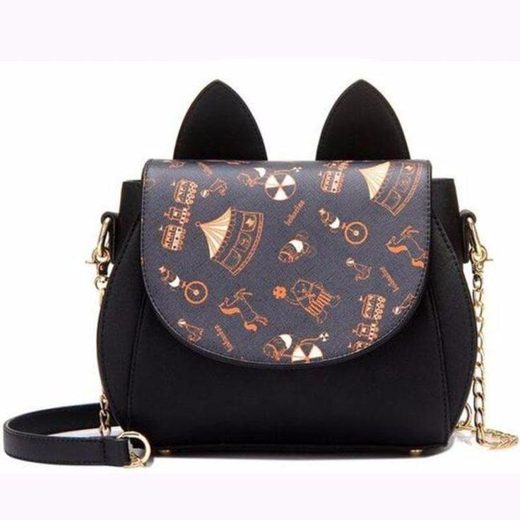 Kitty Ears Crossover Body Bag