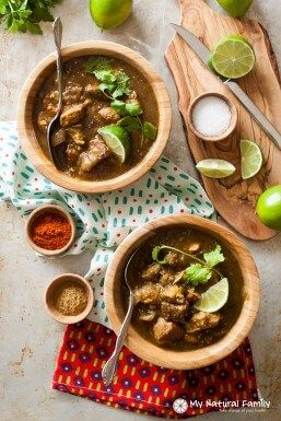 Crock Pot Varkensvlees Chili Verde Recept {Paleo, Schoon eten, glutenvrij, zuivel gratis, Whole30}