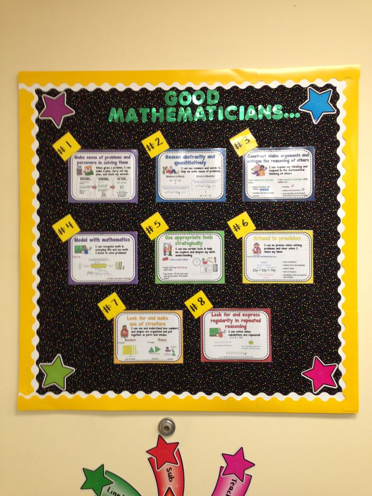 8 Mathematical Practices Bulletin Board for students to refer to. …