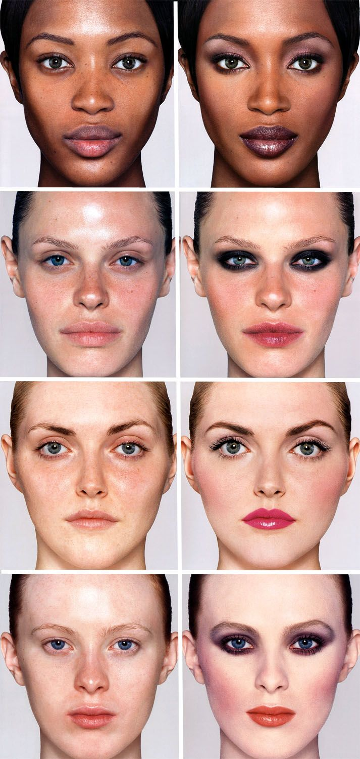 models without makeup and then with