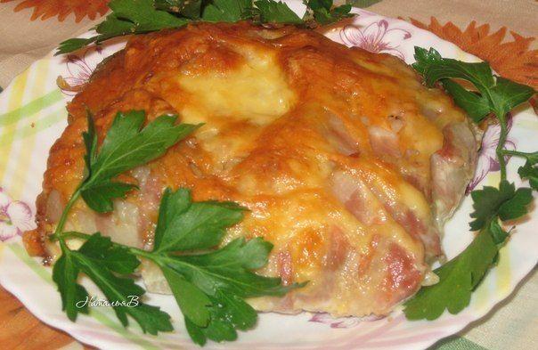 Грибная картошечка в мясном мешочке | Кулинарные Рецепты