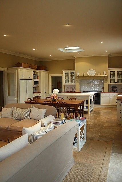 27 best kitchen family room combo images on pinterest - Open floor plan kitchen living room dining room ...