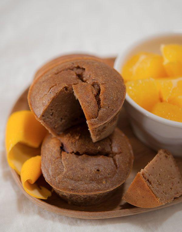 Fondants châtaigne, orange et cardamome (remplacer les oeufs par du tofu soyeux)