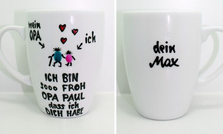 Opa Tasse personalisiertes Geschenk für Opa & Name von Lovely-Cups   auf DaWanda.com