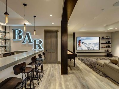Man cave and bars