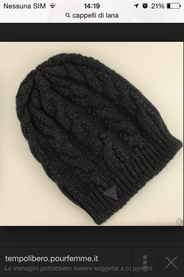 Cappello maglia intrecciata