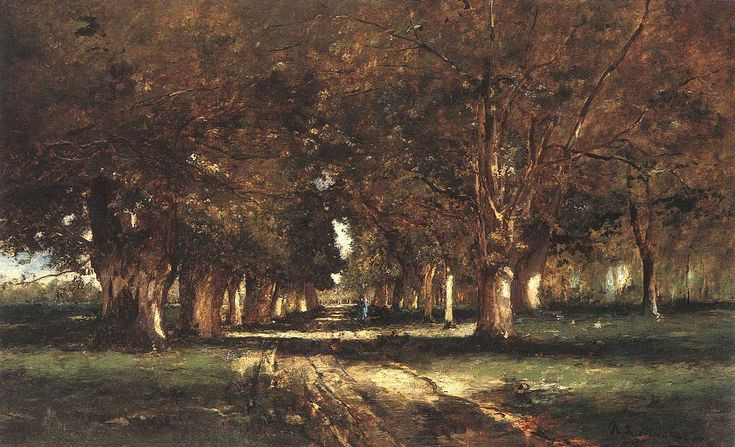Mihaly Munkacsy - Line of Trees, 1886
