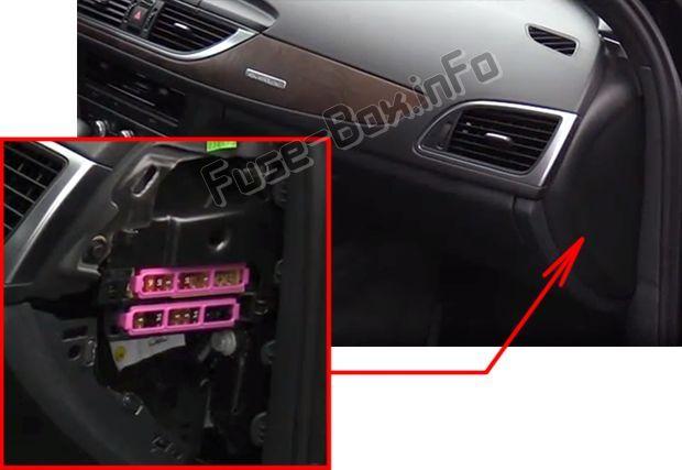 Audi A6 S6 C7 4g 2012 2013 2014 2015 2016 2017 2018 Fuse Box Location Fuse Box Cover Audi Audi A6