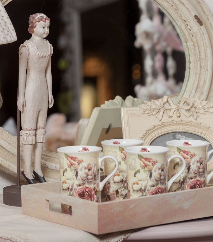 Fine Tea Cups with Pastel Roses - Embrace your creativity at ChicVille