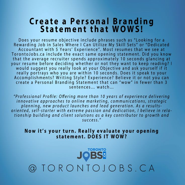 Create A Personal Branding Statement That WOWS! #brandyourself #jobsearch  #careeradvice #personalbranding · Job Search TipsPersonal Branding