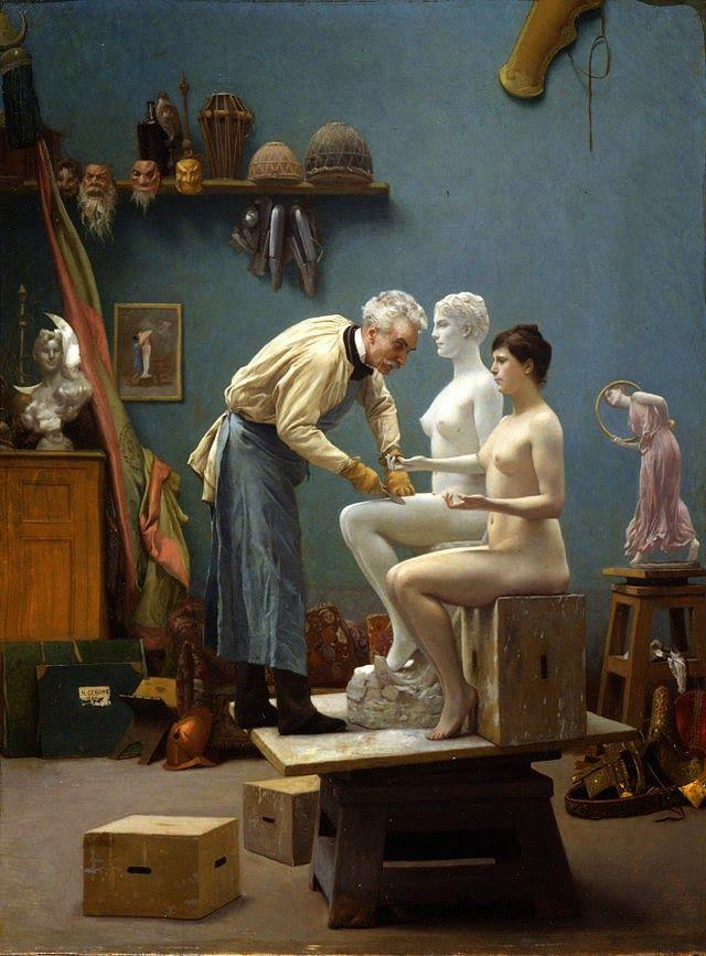 Ο καλλιτέχνης με το μοντέλο του
