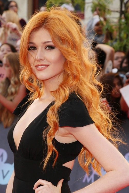 Katherine McNamara arrives at the 2015 MuchMusic Video Awards at MuchMusic HQ in Toronto