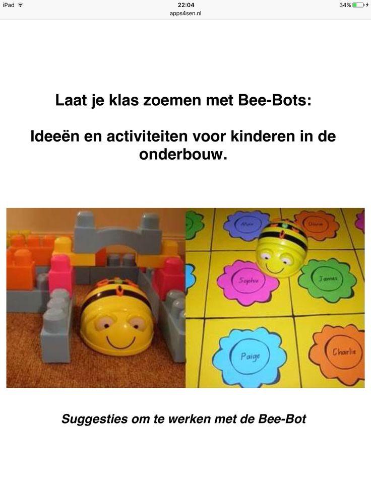 Lessuggesties: http://www.apps4sen.nl/apps4sen/NIEUWS/Artikelen/2015/6/11_Programmeren_met_BeeBot_files/Zoemen%20met%20de%20Bee-Bot.pdf