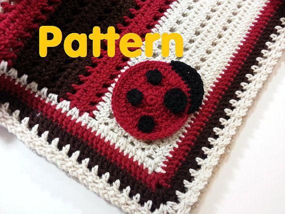 PATTERN - Crochet Baby Ladybug Receiving Blanket Crochet ...