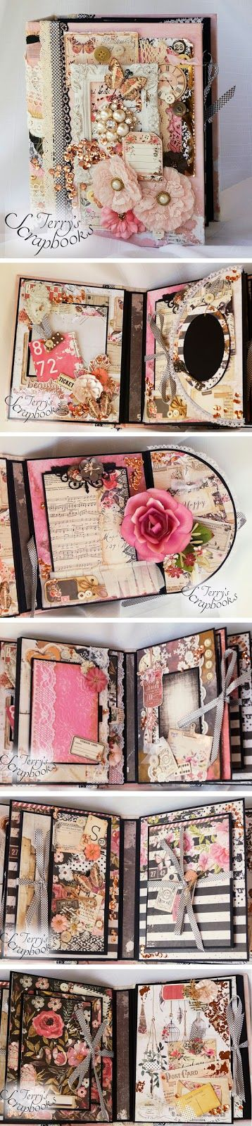 Terry's Scrapbooks: Prima Rossibelle Scrapbook Mini Photo Album Reneab... More
