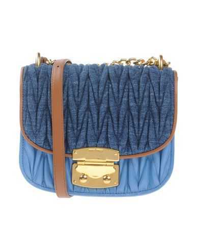 2bfeb28ba158 MIU MIU Across-body bag.  miumiu  bags  hand bags  denim  satchel ...