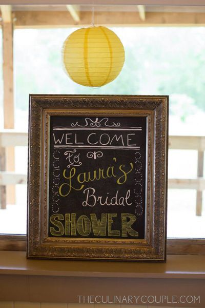 sunflower bridal shower #sunflower #bridalshower #chalkboardsign