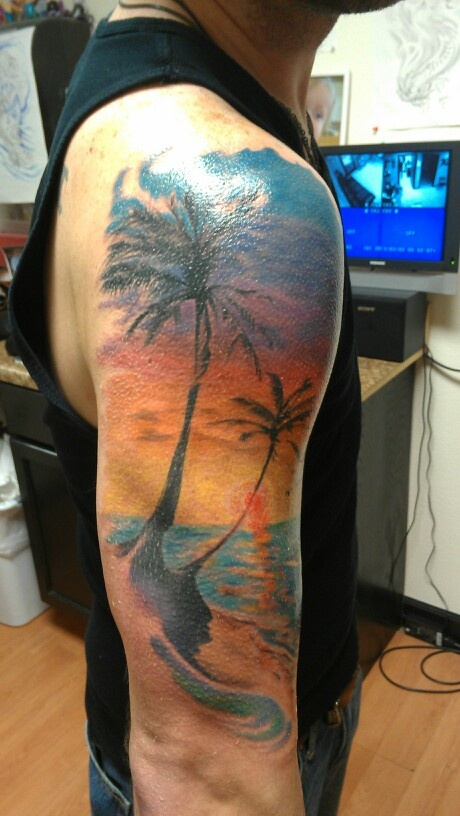 84 best images about beach tattoo on pinterest for Beach sunset tattoos