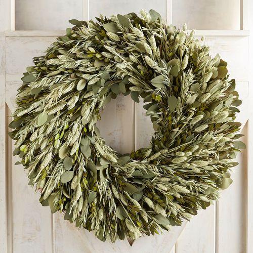 Preserved Green White Myrtle Oversized 30 Wreath Wreaths Fall Wreaths Green Wreath