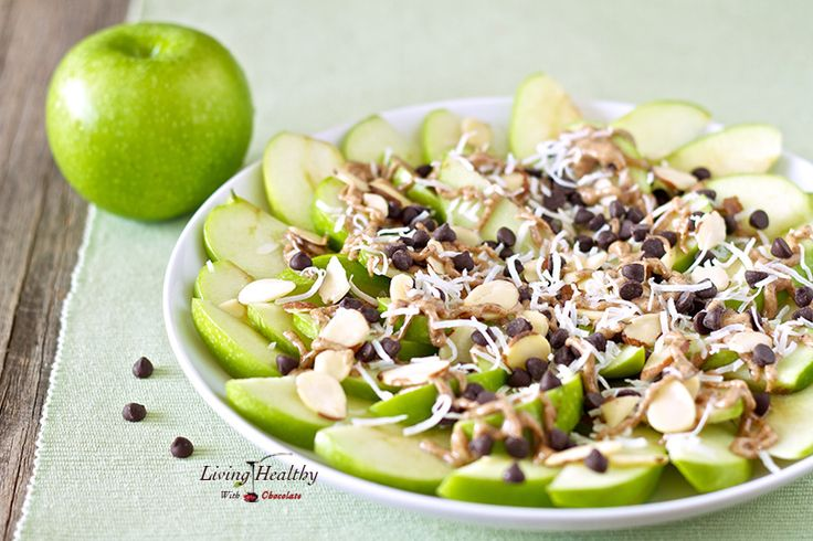 Paleo Apple 'Nachos' by LivingHealthyWithChocolate.com