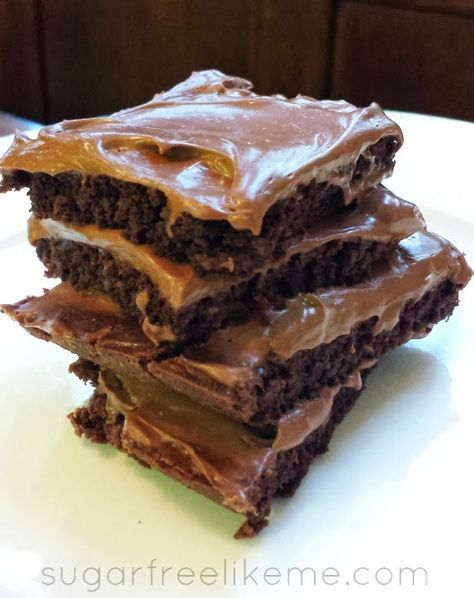 Brownies with Cream Cheese Frosting (keto, low carb) | Sugar Free Like Me