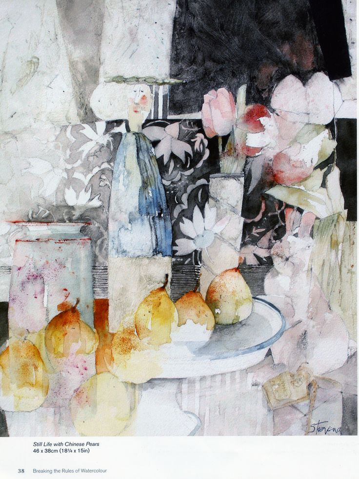 shirley trevena - knowing what to leave unpainted ... you always do! Love the 'looseness' and colours
