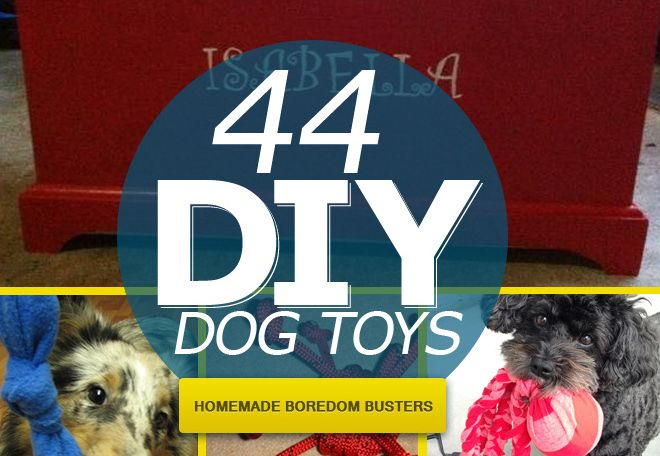 44 Really Cool Homemade DIY Dog Toys Your Dog Will Love :http://blog.spartadog.com/44-really-cool-homemade-diy-dog-toys-your-dog-will-love/