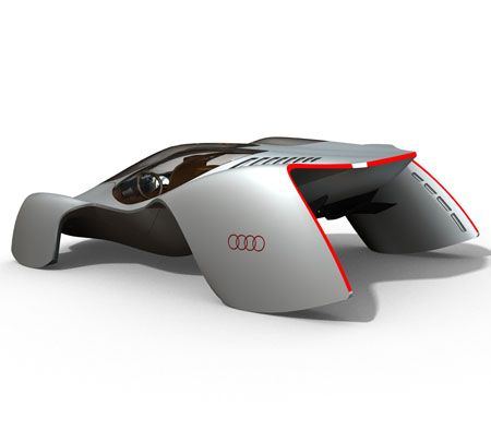 audi avatar car concept. Some explanation from Edwin : The exterior desing of the car is inspired by the form of fabric blown in the wind.