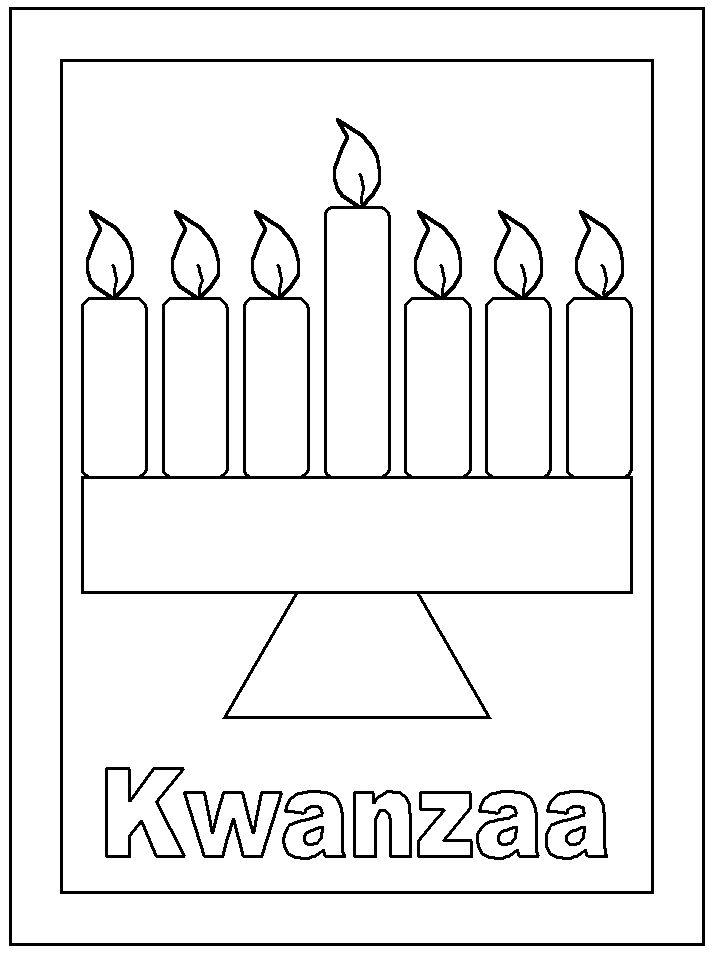 Free Kwanzaa Coloring Book printables