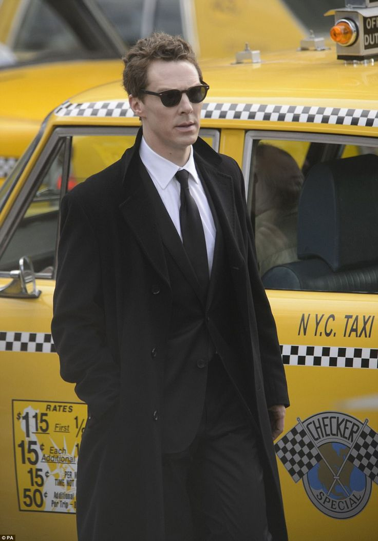 Living it up in NYC: Actor Benedict Cumberbatch, 41, was spotted filming scenes as playboy Patrick Melrose in Glasgow city centre, which was transformed into 1980s New York for the miniseries