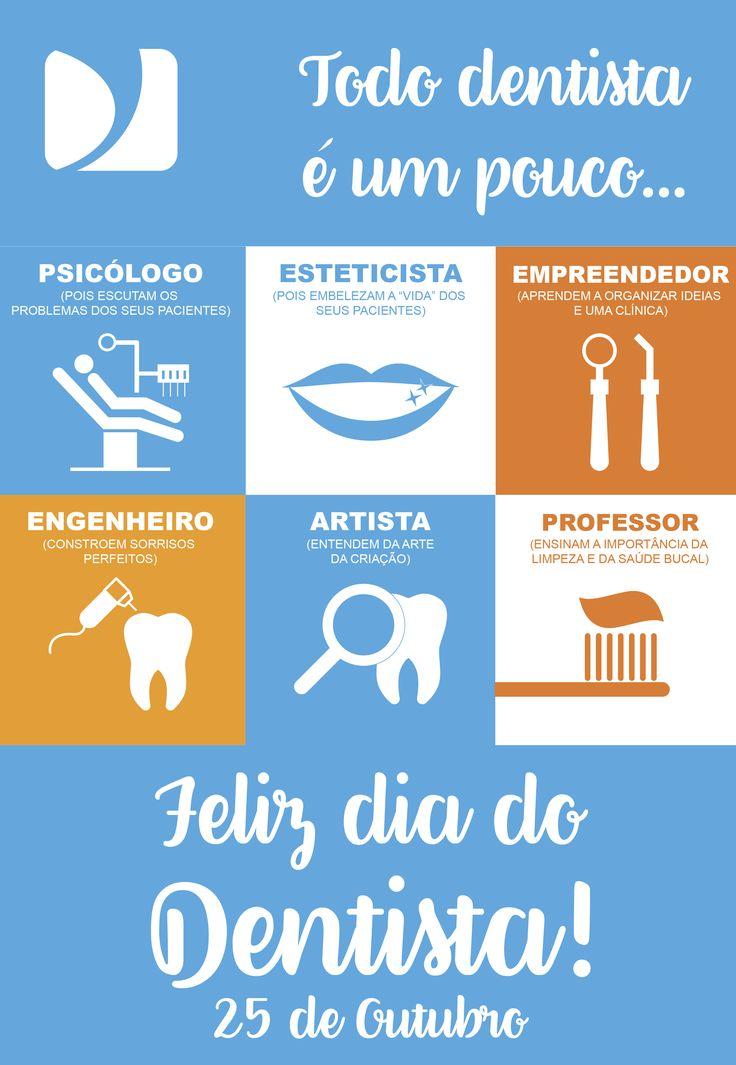 25 de Outubro: dia do Dentista. Desejamos um Feliz dia para você, profissional do Sorriso! :D ;) #DistribuirSorrisos #DentalMedSul #Odontologia #ProdutosOdontológicos #Dental #Dentistas