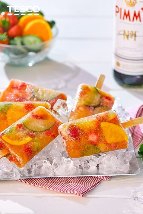 Celebrate Pimm's o'clock with a delicious ice lolly - take it from us, the classic summertime tipple tastes just as good as a refreshing frozen treat. | Tesco