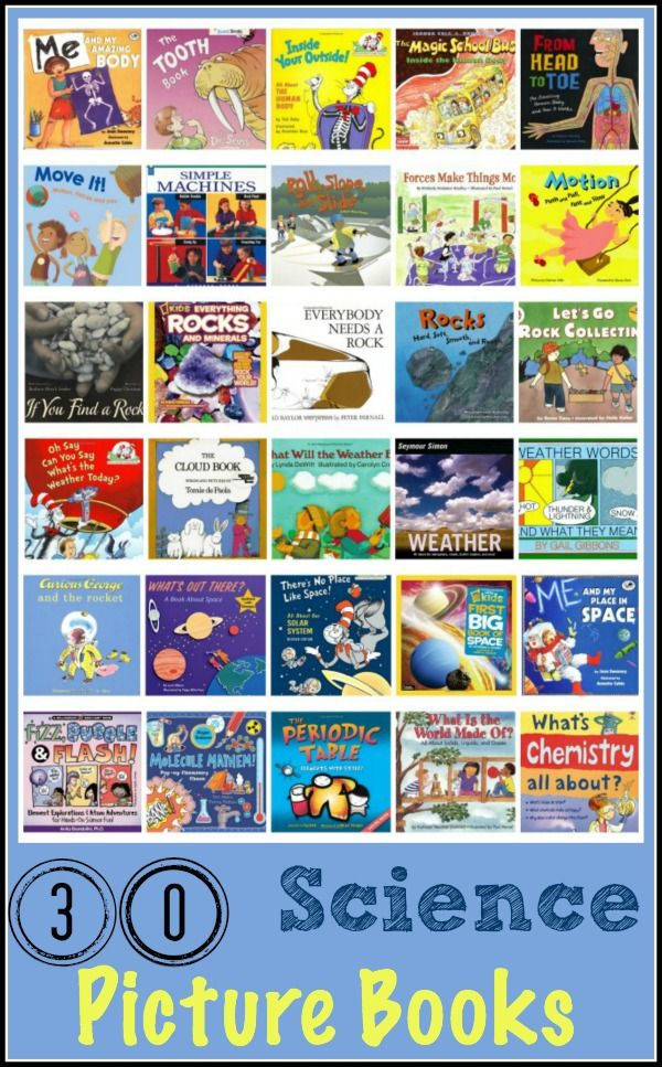 30 Science Picture Books for kids to enjoy and learn! embarkonthejourney.com #science #books