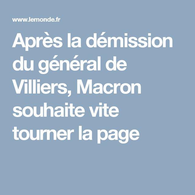 Après la démission du général de Villiers, Macron souhaite vite tourner la page
